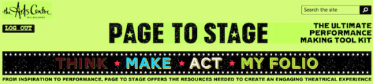 Page To Stage: Performance Making Toolkit For Drama