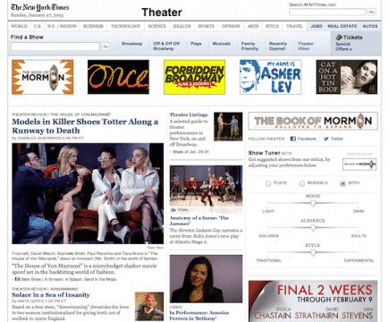 Theater at The New York Times